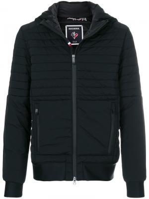 Стеганая куртка с капюшоном Rossignol. Цвет: чёрный