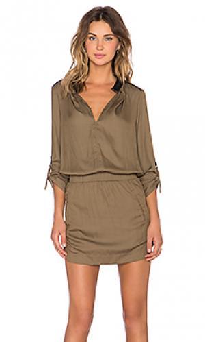 Платье ober NUE 19.04. Цвет: коричневый