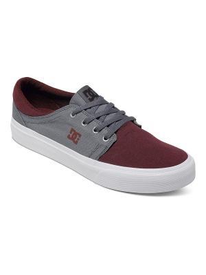Кеды DC Shoes. Цвет: серый, бордовый
