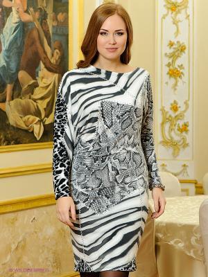 Платье МадаМ Т. Цвет: серый, молочный, белый
