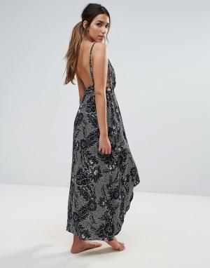Somedays Пляжное платье макси с лямками на спине Lovin. Цвет: мульти