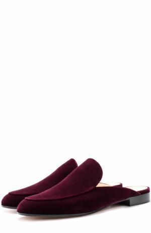 Бархатные сабо Marcel с прострочкой Gianvito Rossi. Цвет: фиолетовый