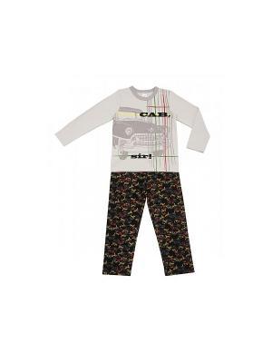 Пижама Модамини. Цвет: серый, черный