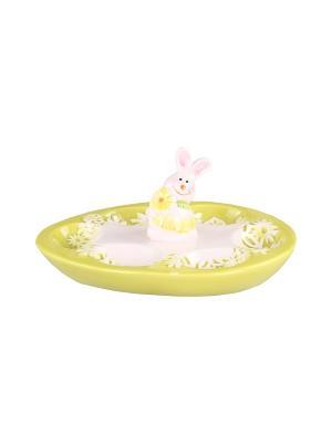 Тарелка для 6-ти яиц 21*16*9 см. PATRICIA. Цвет: светло-зеленый
