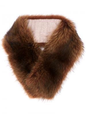 Меховой воротник Marmotta Canadese Loro Piana. Цвет: коричневый