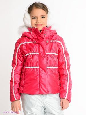 Куртка CACAO. Цвет: фуксия, белый