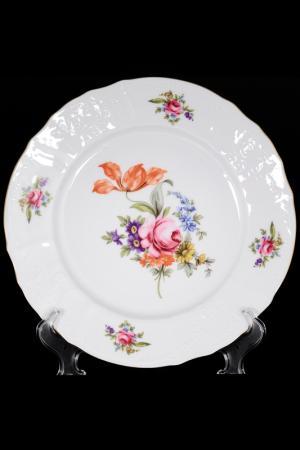 Набор тарелок 25 см BERNADOTTE. Цвет: белый, золотой