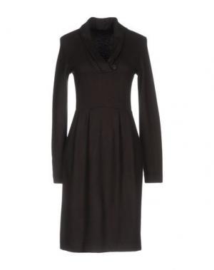 Платье до колена PESERICO. Цвет: темно-коричневый