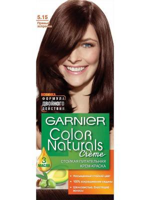 Стойкая питательная крем-краска для волос Color Naturals, оттенок 5.15, Пряный эспрессо Garnier. Цвет: темно-коричневый