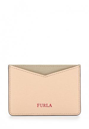 Визитница Furla. Цвет: бежевый