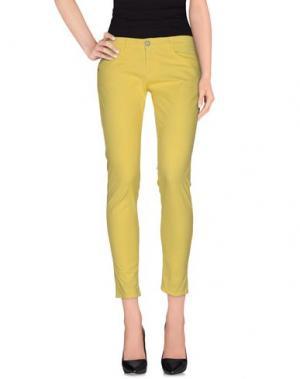 Повседневные брюки CLARK JEANS. Цвет: желтый