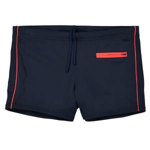 Пляжные шорты La Redoute Collections. Цвет: синий/ оранжевый