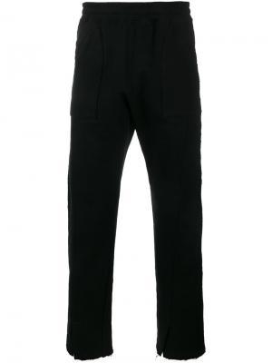 Спортивные штаны с разрезами снизу Facetasm. Цвет: чёрный