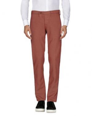 Повседневные брюки OAKS. Цвет: ржаво-коричневый