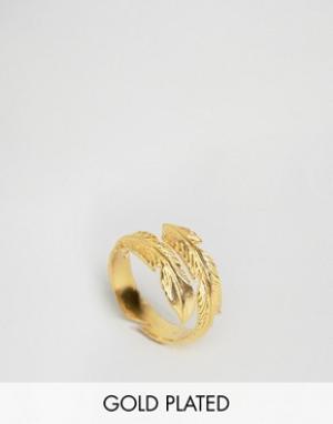 Ottoman Hands Кольцо с перьями. Цвет: золотой