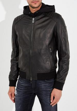 Куртка кожаная Belstaff. Цвет: черный