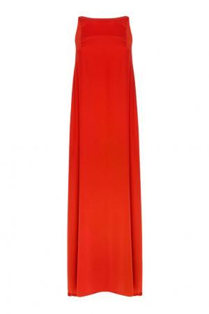 Платье в пол VIKTORIA IRBAIEVA. Цвет: красный