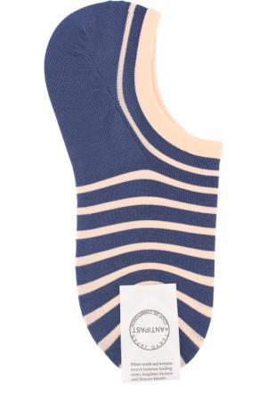 Хлопковые носки в контрастную полоску Antipast. Цвет: синий