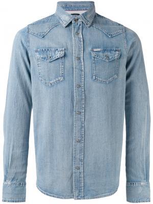 Классическая джинсовая рубашка Diesel. Цвет: синий