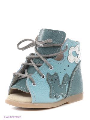 Ботинки Детский скороход. Цвет: бирюзовый, голубой