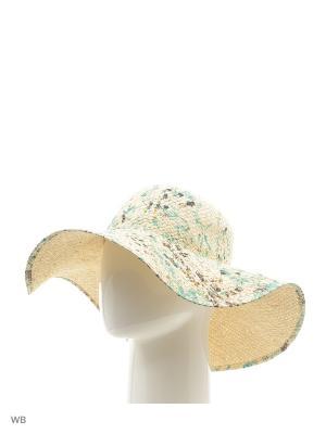 Шляпа United Colors of Benetton. Цвет: желтый, зеленый