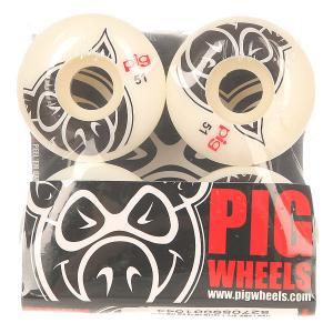 Колеса для скейтборда  Head Natural 101A 51 mm Pig. Цвет: белый