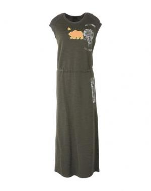 Длинное платье ROCK 'N' ROLL. Цвет: зеленый-милитари