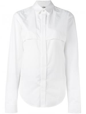 Рубашка с накладными клапанами Chalayan. Цвет: белый