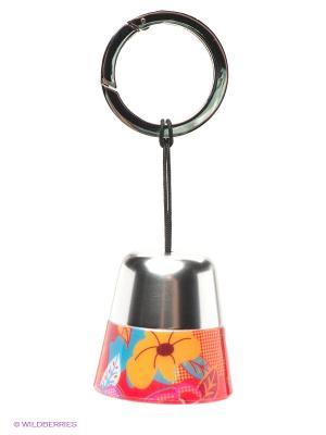 Брелок/POCKET LAMP FLOWER TROIKA. Цвет: серебристый, красный