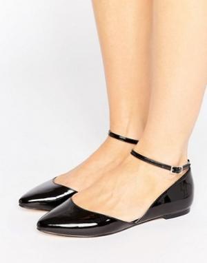 Faith Aсимметричныe туфли на плоской подошве с острым носком Ali. Цвет: черный