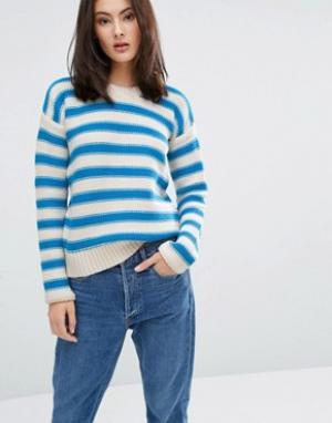 MiH Jeans Джемпер в полоску M.i.h Amorgas. Цвет: кремовый