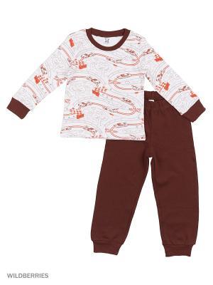Пижама K&R BABY. Цвет: коричневый