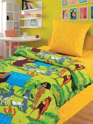 Комплект постельного белья 1,5 бязь Урок Союзмультфильм. Цвет: желтый, голубой, зеленый