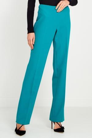 Прямые зеленые брюки Chapurin. Цвет: зеленый
