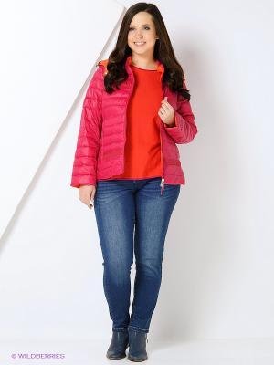 Куртка Fiorella Rubino. Цвет: оранжевый, малиновый