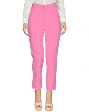 Повседневные брюки MINUETO. Цвет: розовый