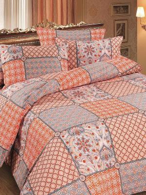 Комплект постельного белья Магия Ночи. Цвет: оранжевый, синий