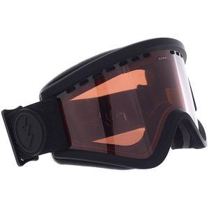 Маска для сноуборда  Egv Matte Black/Brose Electric. Цвет: черный