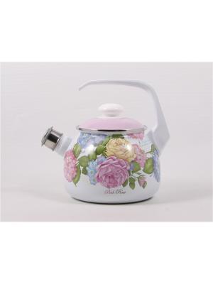 Чайник эмалированный ЛЗ ЭП. Цвет: бледно-розовый