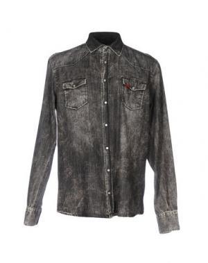 Джинсовая рубашка LIU •JO MAN. Цвет: свинцово-серый
