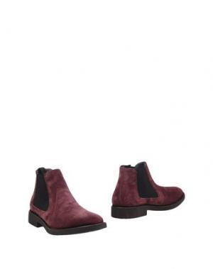 Полусапоги и высокие ботинки POLLINI. Цвет: баклажанный