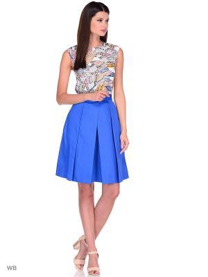 Блузка APRELLE. Цвет: черный, белый, синий