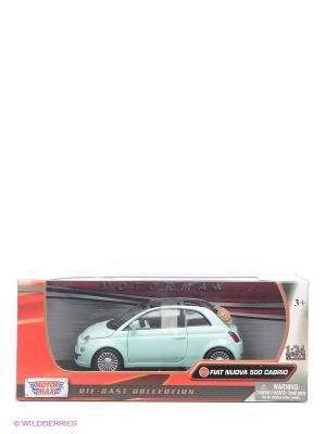 Машинка коллекционная Fiat Nuova 500 Cabrio Motormax. Цвет: светло-зеленый