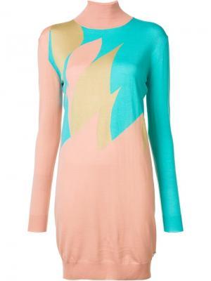 Короткое вязаное платье Vionnet. Цвет: синий