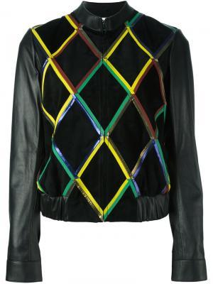 Куртка с геометрическим узором Marco De Vincenzo. Цвет: чёрный