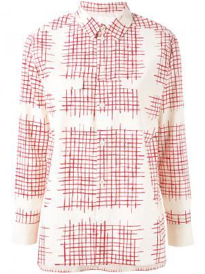 Рубашка  Farmer Toogood. Цвет: красный