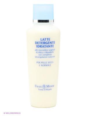 Увлажняющее молочко для очищения кожи лица и снятия макияжа Frais Monde. Цвет: молочный, голубой