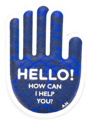 Наклейка Hello… Anya Hindmarch. Цвет: синий