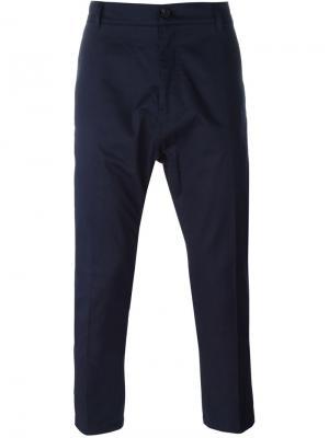 Классические брюки-чинос Antonio Marras. Цвет: синий