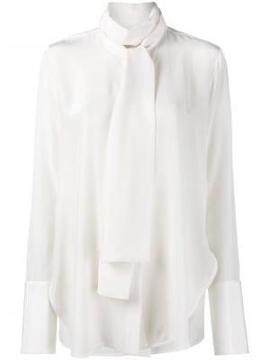 Блузка с бантом Ellery. Цвет: телесный